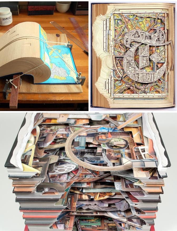 Brian Dettmer Book Art Collage